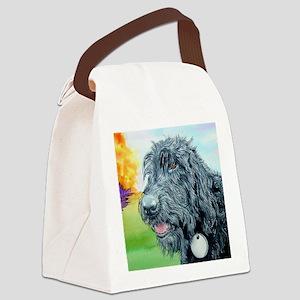 Black Labradoodle 5 Canvas Lunch Bag