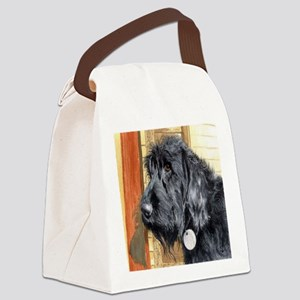 Black Labradoodle Ralph Canvas Lunch Bag