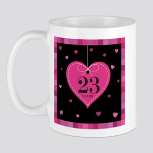 23rd Anniversary Heart Mug