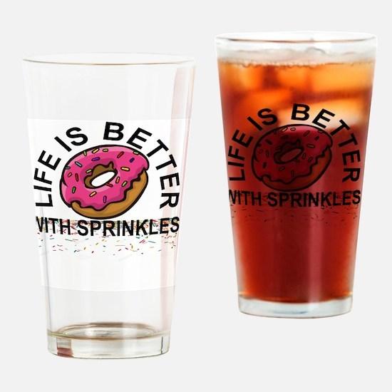 Cute Sprinkles Drinking Glass