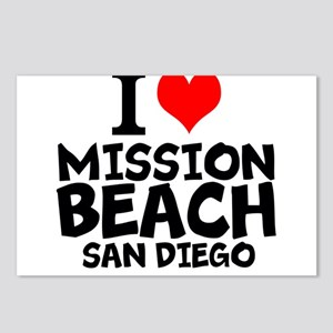 I Love Mission Beach, San Diego Postcards (Package
