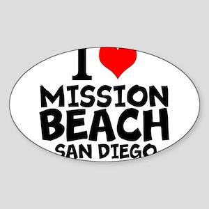 I Love Mission Beach, San Diego Sticker