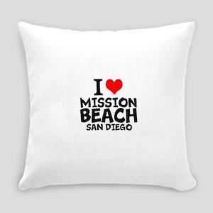 I Love Mission Beach, San Diego Everyday Pillow