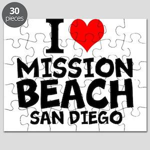 I Love Mission Beach, San Diego Puzzle