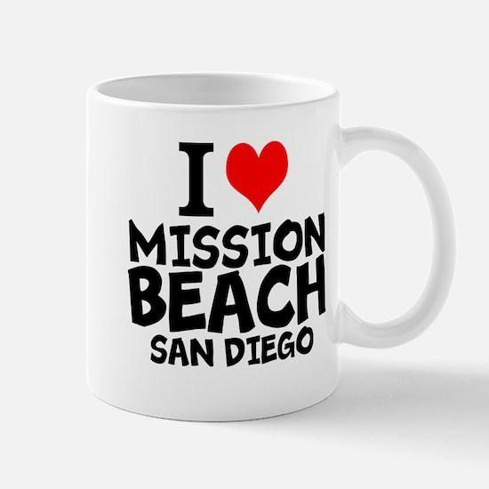 I Love Mission Beach, San Diego Mugs