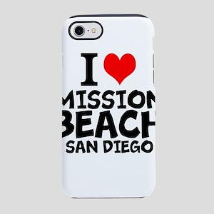 I Love Mission Beach, San Diego iPhone 7 Tough Cas