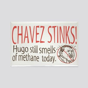 Chavez Stinks Cartoon Rectangle Magnet