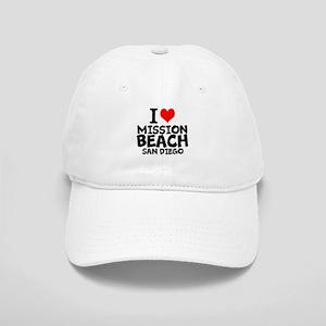 I Love Mission Beach, San Diego Baseball Cap
