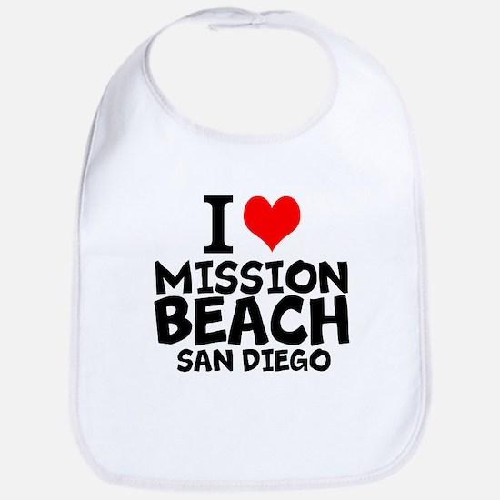 I Love Mission Beach, San Diego Baby Bib