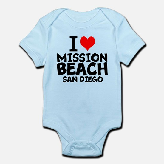 I Love Mission Beach, San Diego Body Suit