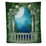 Summer Night Balcony Wall Tapestry