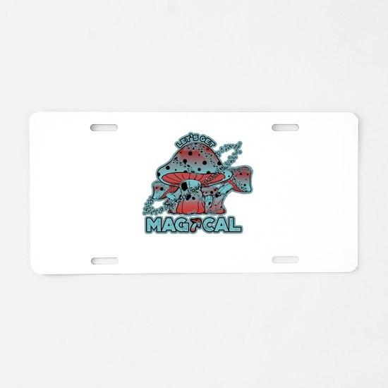 Magical Shrooms Aluminum License Plate