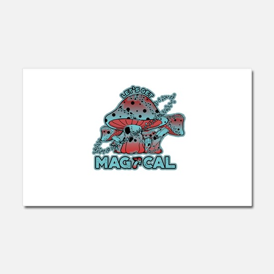 Magical Shrooms Car Magnet 20 x 12