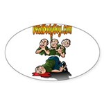 Official Dead Body Guy Oval Sticker