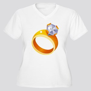Engagement Ring Plus Size T-Shirt