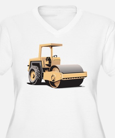 Paving Machine Plus Size T-Shirt