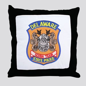 Delaware State Police Scuba T Throw Pillow