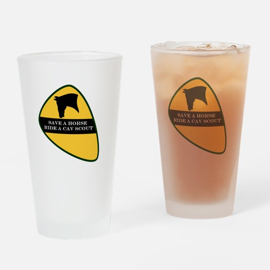 Save a horse ride a cav scout Drinking Glass