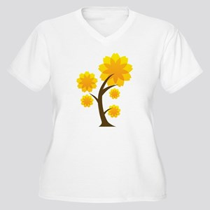 Fall Leaves Plus Size T-Shirt