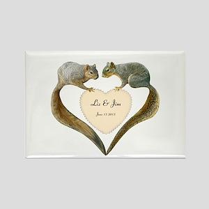 Love Squirrels Rectangle Magnet