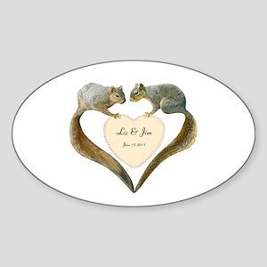 Love Squirrels Sticker (Oval)