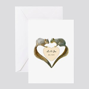 Love Squirrels Greeting Card