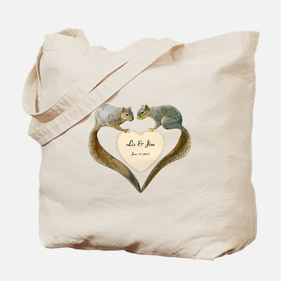 Love Squirrels Tote Bag
