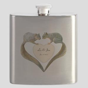 Love Squirrels Flask