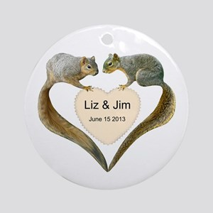Love Squirrels Ornament (Round)