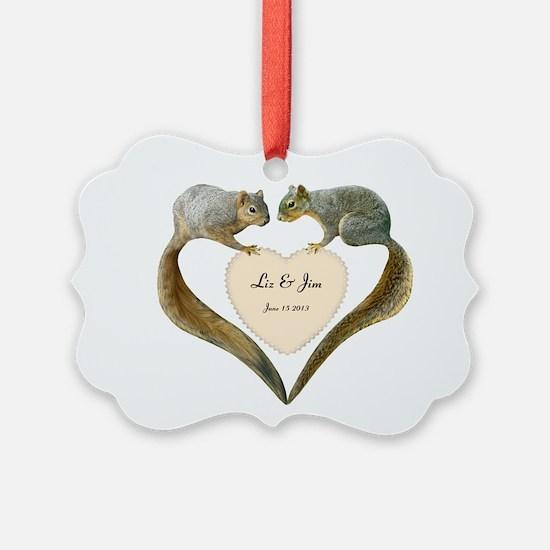 Love Squirrels Ornament
