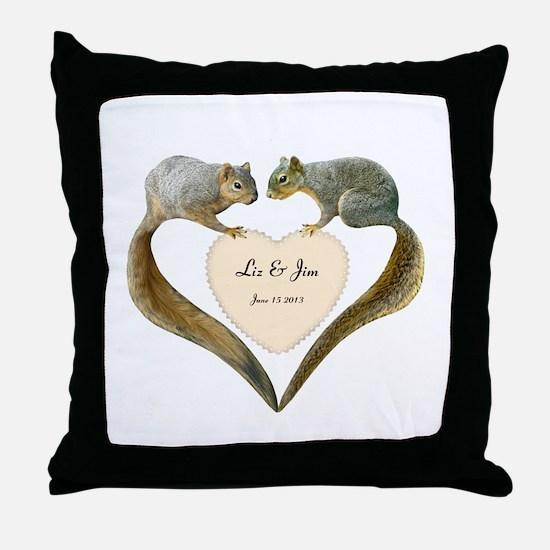 Love Squirrels Throw Pillow
