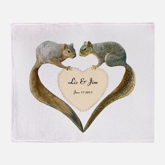 Love Squirrels Throw Blanket
