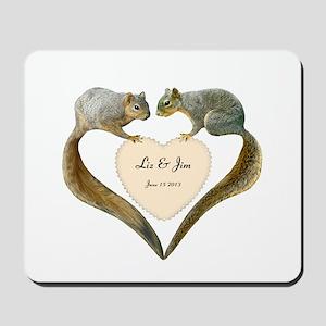 Love Squirrels Mousepad