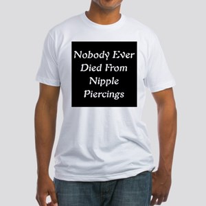 Nipple Piercing Fitted T-Shirt