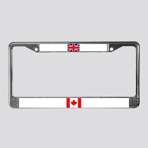 Union Jack / Canadian Flag License Plate Frame