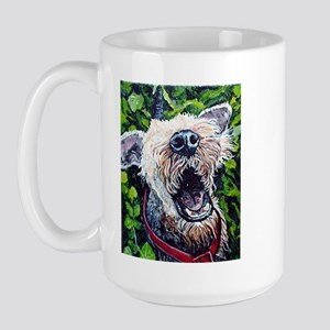 Airedale Terrier Wake up Call,  Large Mug