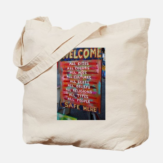 Welcome! Tote Bag