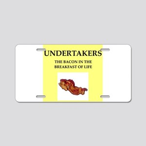 undertaker Aluminum License Plate