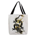 Chinese Dragon Polyester Tote Bag