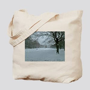 Tree though the rain Tote Bag