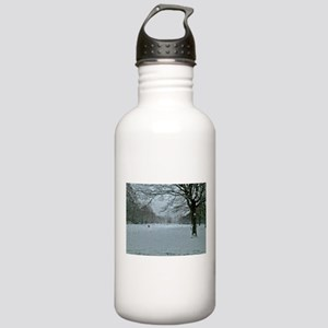 Tree though the rain Water Bottle