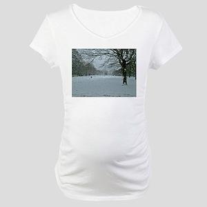 Tree though the rain Maternity T-Shirt