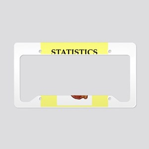 statistics License Plate Holder