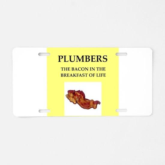 plumber Aluminum License Plate