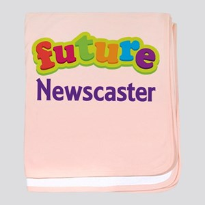 Future Newscaster baby blanket