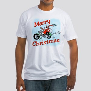 Motorcycle Santa Fitted T-Shirt