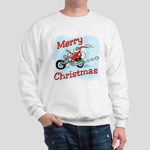 Motorcycle Santa Sweatshirt