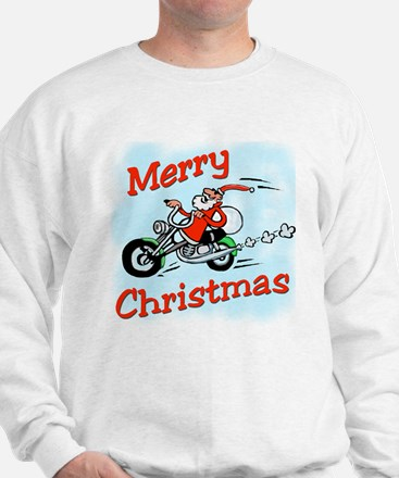 Motorcycle Santa Sweatshirt
