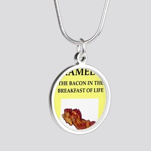 paramedic Silver Round Necklace
