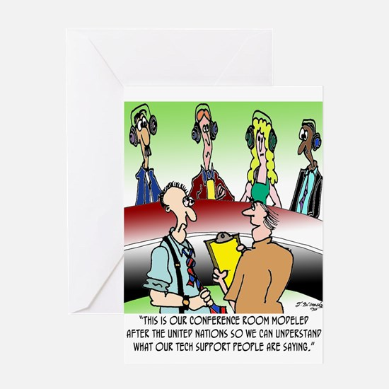 Technical Support Cartoon 7866 Greeting Card